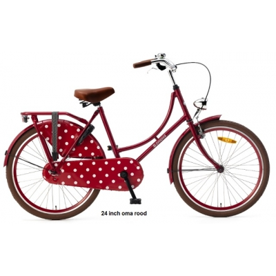 Popal 24 inch oma fiets,Red