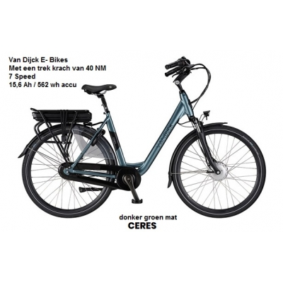 van Dijcks bikes Ceres in H/D model, accu 562 Wh